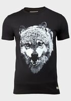 'D-STRUCT' Camiseta estampada para Hombre Lobo Manga Corta Cuello Redondo