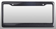 REAL 100% CARBON FIBER LICENSE PLATE FRAME TAG COVER ORIGINAL 3K With Free Caps