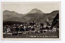 SUISSE SWITZERLAND canton FRIBOURG LA TOUR DE TREME vue du village Et le MOLESON