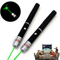 2x Powerful Military Green Laser Pointer Pen Beam Light Lazer Visible 5mW 532nm