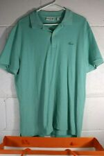 Lacoste Mens Polo Shirt Teal Slim Fit US XXL Extra Extra Large American Gods F5