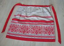 Vintage Austrian Souvenir Cotton Half Apron – folk decorated