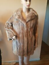 Vintage C.R. Cook Fine Furs Peoria ILL. Mink and Leather fur coat excellent cond