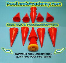 Swimming Pool Leak Detection: 6 dye testing cones- quick plug pool pipe testers