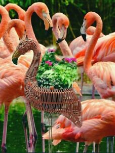 "Celebrate Together 22"" Pink Flamingo Garden Planter and Floor Decor w/ Plant Pot"