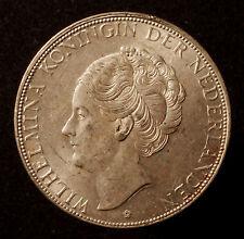 Kgr. Niederlande, Wilhelmina, 2 1/2 Gulden 1938, deep hairlines, R!