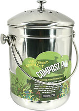 Eddingtons Eco Friendly Deluxe Compost Pail Stainless Steel Bin Recycler - 83004