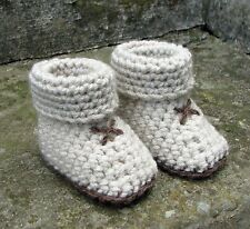 CROCHET PATTERN for BABY SLIPPER SOCKS, BOOTIES - 5 sizes, 3 styles. Ref P35,
