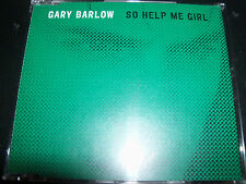 Gary Barlow (Take That) So Help Me Girl EU Promo CD Single
