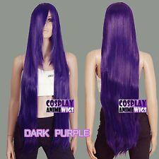 100cm Dark Purple Heat Styleable long Cosplay Wigs  85_3737
