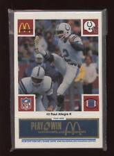 1986 McDonalds FB Baltimore Colts Blue Set NRMT/MT
