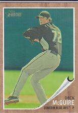 Deck McGuire Toronto Blue Jays 2011 Topps Heritage Minor League Green Tint