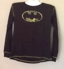 Batman Worn Look Logo DC Comics LS Tee Shirt XLarge Size 46-48 Dark Knight