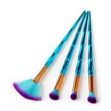 4pcs Pro Diamond Makeup Brushes Set Kabuki Foundation Face Powder Cosmetic