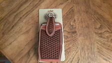 3D Leather Western Cell Basketweave Cowboy Case Pouch PH696 NEW