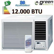 3S Fensterklimagerät GREEN ELECTRIC 3,5kw kompakt klimaanlage mit Wärmepumpe R32