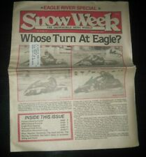 Vintage Snow Week Snowmobile Newspaper Weekly Publication Polaris Arctic Cat
