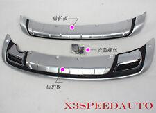 ABS Plastic Front+Rear Bumper Protector Guard For Kia Sportage 2010-2015