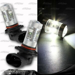1x Pair Dodge GMC Honda Ford Eagle 9006 HB4 30 Watt 6 LED White Projector Bulbs