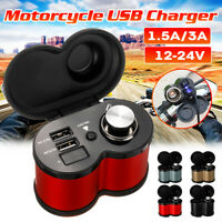 LCD Dual USB Charger Voltmeter Adapter Cigarette Lighter For Motorcycle  ! W