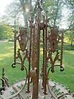 Large  Antique Hanging Lamp Fixture Chandelier