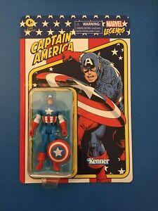 Marvel Legends Retro Collection Unpunched CAPTAIN AMERICA 3.75 in Figure NIB