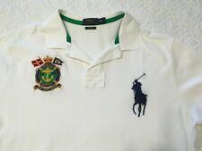 Polo Ralph Lauren Marine Supply XXL Custom Fit White Polo Shirt