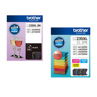 Brother MFC J5320DW  J5720DW LC239XL BK Black LC235XL Cyan Magenta Yellow Ink Ca
