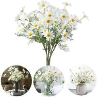 Real Touch Artificial Fake Silk Daisy Flowers Bouquet Party Home Grave Decor New