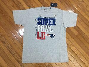 NEW NFL Pro Line New England Patriots Super Bowl LII Mens Gray T-shirt Tee Sz XL