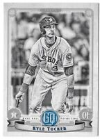 2019 Topps Gypsy Queen Black & White 02/50 KYLE TUCKER Astros RC #225