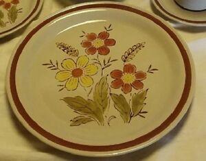 Vintage Autumn Collection Stoneware Wheat Flower ONE PIECE Dinner Plate