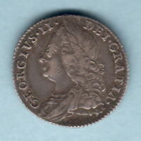 Great Britain. 1758 George 11 - Sixpence.. VF