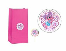 20 ABBY CADABBY 2 inch Sticker Party Bag Tag Favor Lollipop Personalize