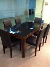 Unbranded Glass 7 Pieces Table & Chair Sets