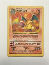 Shadowless Base Set Charizard Holo 4/102 - Played Condition Rare - Pokémon
