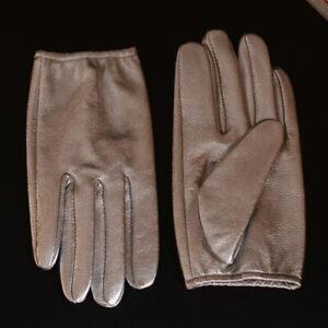 Men's Real Leather Goat Skin Military shrink Wrist Police Tactical Short Gloves