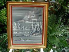 peinture sur bois tableau ancien signé G DEMEUSY peintre des Vosges Belfort