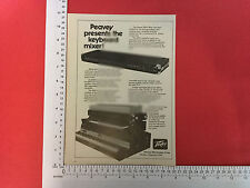 Peavey KM-4 TASTIERA MIXER annuncio dall'inizio del 1978