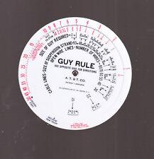 BELL SYSTEMS GUY RULE CIRCULAR SLIDE RULE