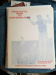 1977 ORIGINAL P.A.L.  NIAGARA FALLS EASTERN REGIONAL  BOXING  PROGRAM NM