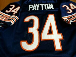 NEW! Chicago Bears #34 Throwback Walter Payton SB Patch sewn Jersey free sh LG