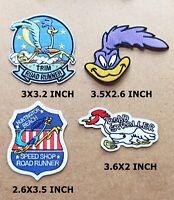 ROAD RUNNER STROLLER Embroidered Patch Iron Sew Logo BEEP CARTOON KIDS BIRD CAP
