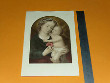 CHROMO 1932 IMAGE PIEUSE CATHOLICISME HOLY CARD SAINTE VIERGE ET ENFANT JESUS