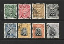 1913 King George V SG187 to SG295 set of 8 stamps Admirals Fine Used RHODESIA
