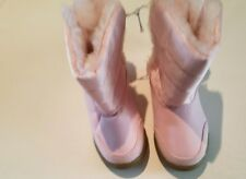 Toddler Girls Faded Glory Pink Winter Boots Velcro Closure Both SidesSize 6