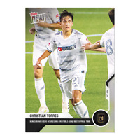 2020 TOPPS NOW MLS Christian Torres #42 Los Angeles FC Rookie RC Print Run /849!