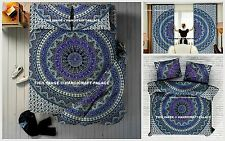 Indian Elephant Mandala Cotton Duvet Cover Bed Sheet Pillow Cover Curtains Set