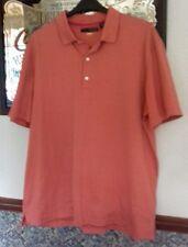 GREG NORMAN Mens Polo Shirt Orange Striped Size XL VGC