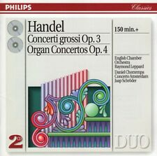 Leppard Chorzempa Schroder - Handel Concerti Grossi Organ Concertos 2CD Philips